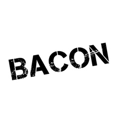 Bacon rubber stamp vector