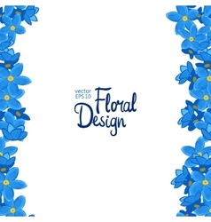 Border with forget-me-not flowers vector