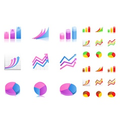 business graphs icons vector image