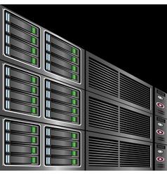 computer servers vector image