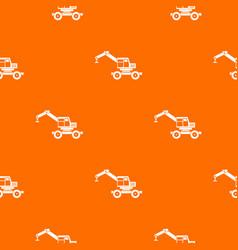 Crane truck pattern seamless vector