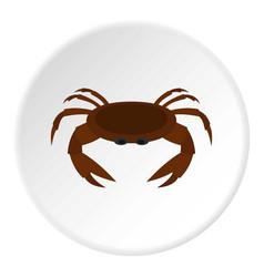 Edible brown crab icon circle vector