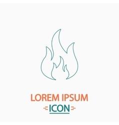 Fire computer symbol vector image