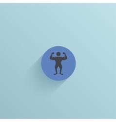 flat circle icon on blue background Eps10 vector image