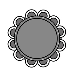 Floral art decorative icon vector