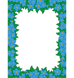 Frame with blue flowers vector
