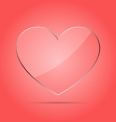 Heart transparent glass concept vector image vector image