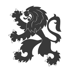 Heraldic lion 32 vector image vector image
