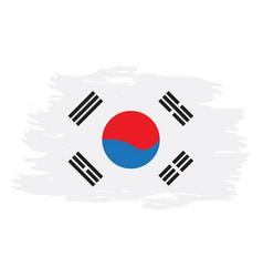 Isolated south korean flag vector