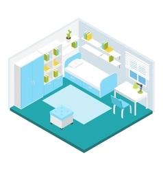 Isometric children room composition vector