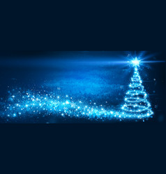 magic christmas tree glittering vector image vector image