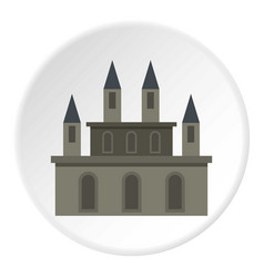 Medieval castle icon circle vector