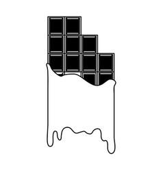 melting chocolate bar icon image vector image