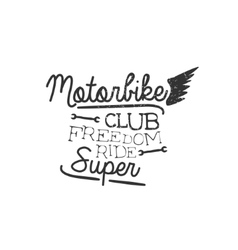 Motorbike Club Vintage Emblem vector image vector image