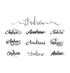 Personal name tattoo andrew vector