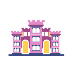 pink majestic palace building vector image vector image
