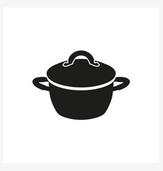 Pot icon in simple monochrome style vector