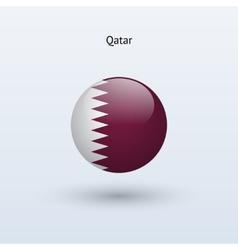 Qatar round flag vector image