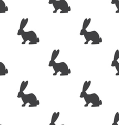 rabbit seamless pattern vector image