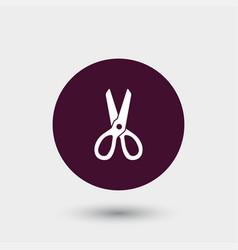 scissors icon simple barbershop vector image vector image