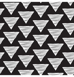 Seamless hand-drawn triangles pattern vector image vector image