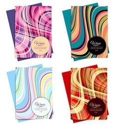 Set of Brochure Template Design vector image