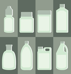 Set of medicine bottle vector image vector image