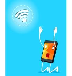 smartphone adore signal vector image vector image