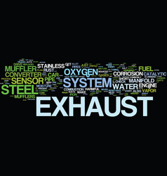 The exhaust system text background word cloud vector