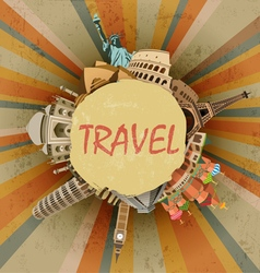 Travel abstract vector image vector image