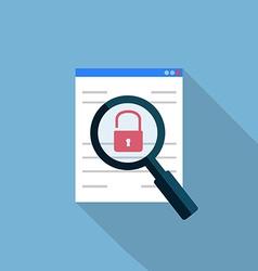 Vulnerability search icon vector