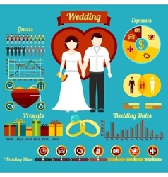 Wedding set with graphic elements vector