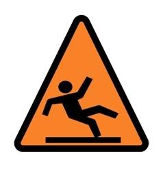 Wet floor - warning sign vector