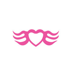 Wing love logo vector