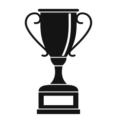 Winning gold cup icon simple style vector