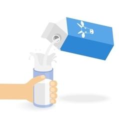 Milk creating splash vector