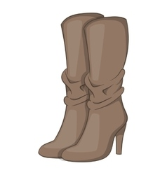 Womens boots high heel icon cartoon style vector
