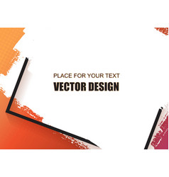 Universal banner frame and place for text vector