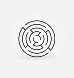 minimal round maze icon vector image