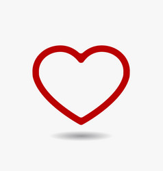 red heart icon in flat style vector image