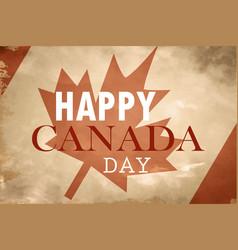 Happy canada day retro card in format vector