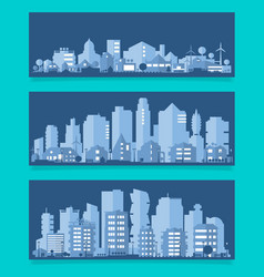 With a city in paper material vector