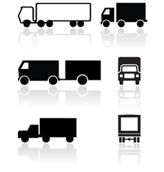 truck van symbol set vector image