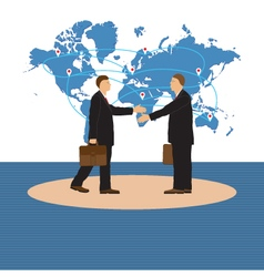 Two businessmen handshake vector