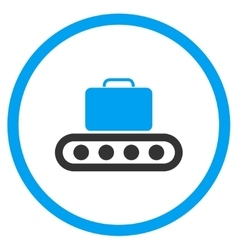 Baggage conveyor rounded icon vector