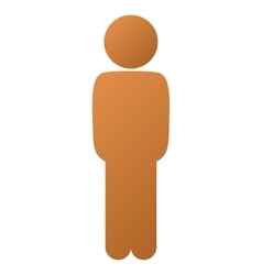 Child standing pose gradient icon vector