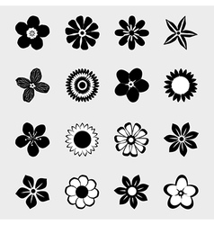 Flower icon collection vector