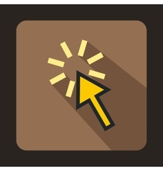 Arrow pointer icon flat style vector