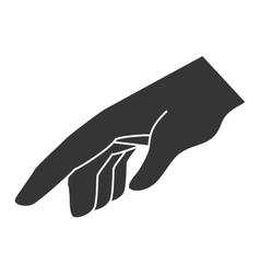Hand sign language icon vector