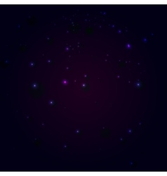 Abstract constellation in a universe vector image